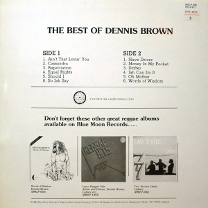 DENNIS BROWN THE BEST OF DENNIS BROWN