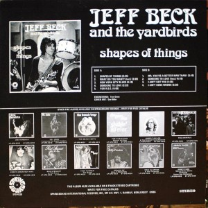 JEFF BECK AND THE YARDBIRDS SHAPES OF THINGS