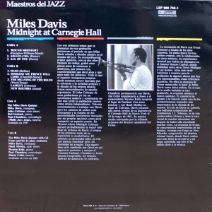 MILES DAVIS:MIDNIGHT AT CARNEGIE HALL