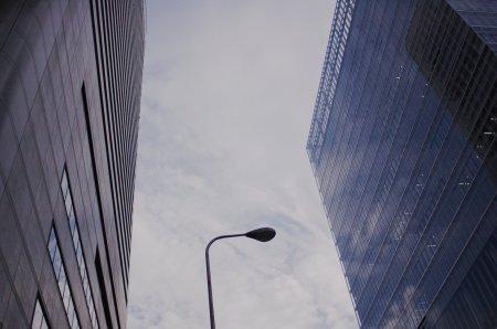 雲と電柱と電線:千代崎